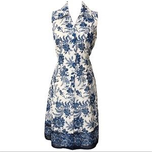 Coldwater Creek Sheath Shirt Dress Floral Belted S